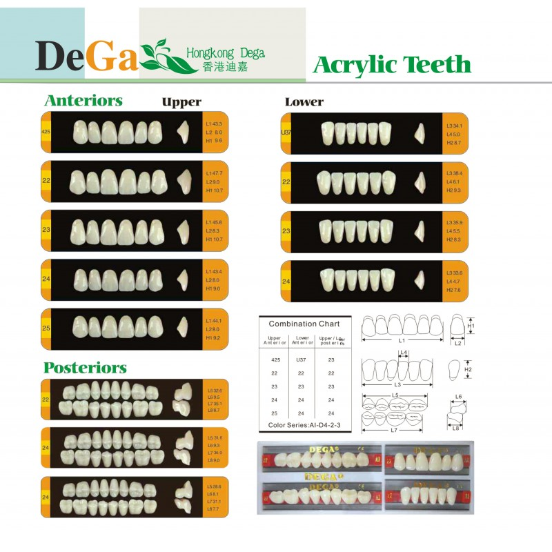B2-T25 Зъбни гарнитури DEGA