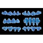 Eurowax between body set - Восъчни форми комплект 1800 бр.