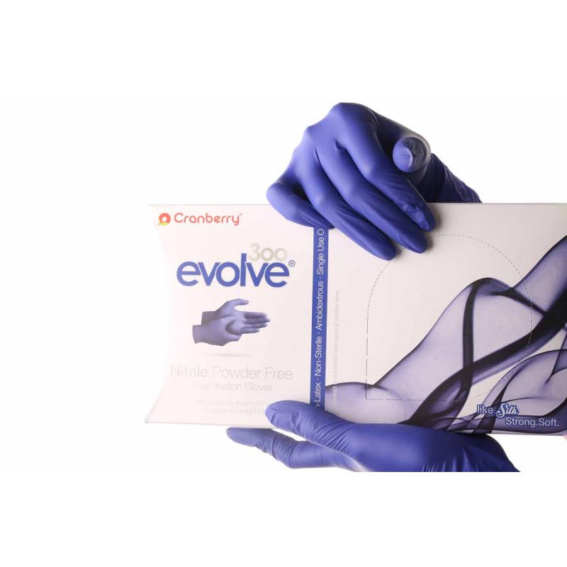 Ръкавици - нитрилни L - 300 бр. - evolve - Cranberry
