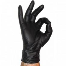 Ръкавици нитрилни черни S - 100 бр./кут. Beybi
