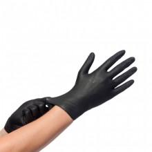 Ръкавици нитрилни L черни - 200 бр./кут.