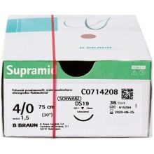 Конец за шиене - Braun - Supramid - 4/0