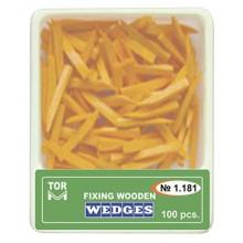 Дървени клинчета - оранжеви