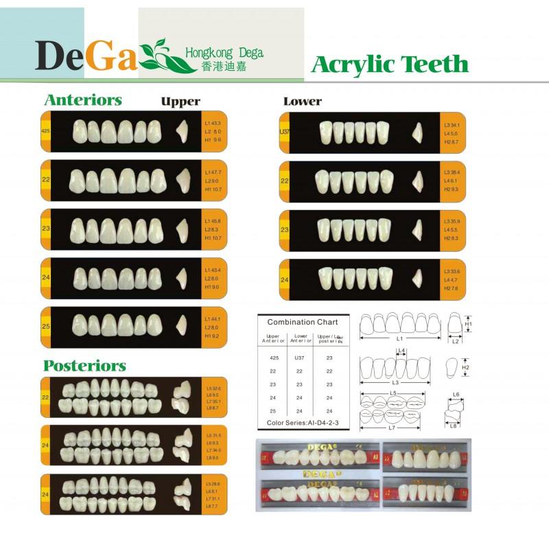 A3-T25 Зъбни гарнитури DEGA