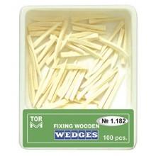 Дървени клинчета Toe VM 100 бр. - бели (1.182)
