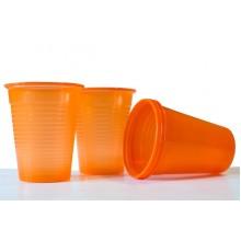 Пластмасови чашки 50 бр. - оранжеви