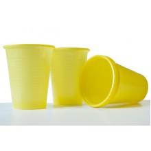 Пластмасови чашки 50 бр. - жълти